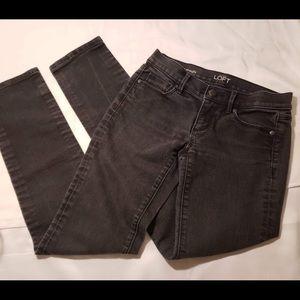 Ann Taylor LOFT womens black denim jeans